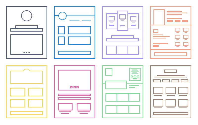 one page structures of website